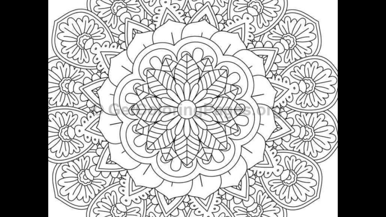 - Advanced Mandala Coloring Pages - YouTube
