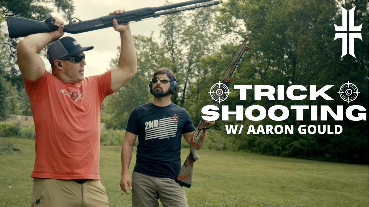How to do Shotgun TRICK SHOTS w/ Aaron Gould