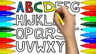 Teach Abc Alphabet To Kids Coloring and Drawing | Learn Coloring and Painting