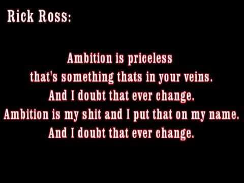 Ambition   #MMG new Wale ft Rick ross & Meek Mill  Lyrics