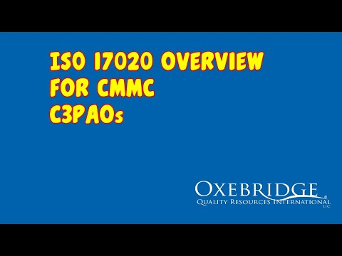 ISO 17020 for CMMC C3PAOs