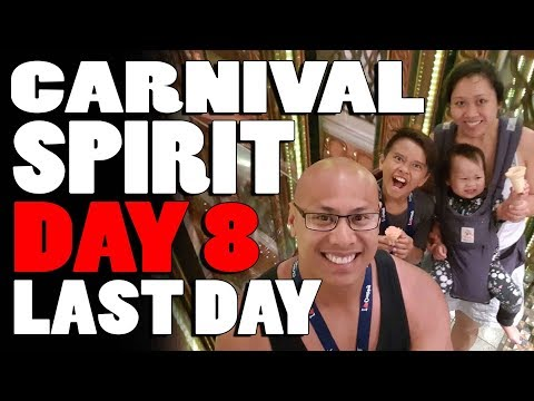 (HD) Last Day Carnival Spirit Cruise Vlog (Day 8 - Sat, 9 Dec 2017)