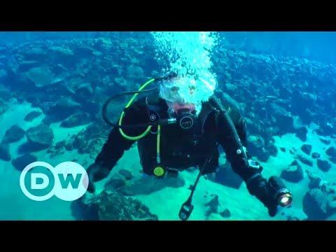 Diving in an Icelandic crater lake | DW English