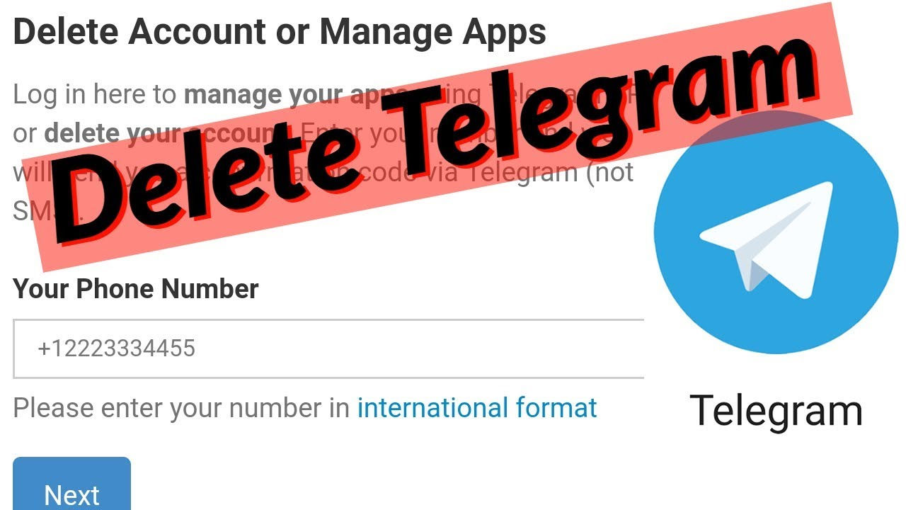 What happens when you delete your Telegram account [SOLVED]