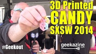 SXSW 2014 ChefJet 3D Printed Candy