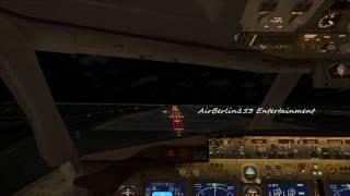 FSX Air Berlin 737-800 landing at Palma de Mallorca [Cockpit View]