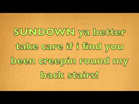 Gordon Lightfoot - Sundown (Official Lyrics)