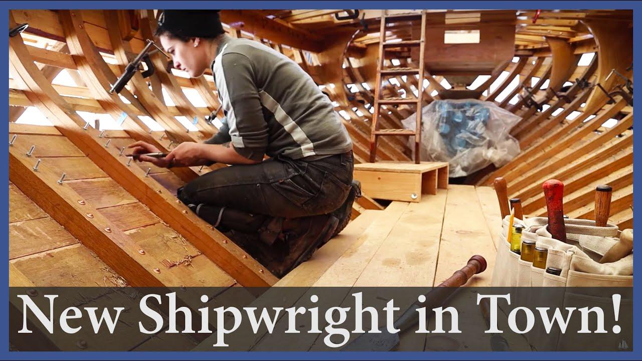 Fairing the Mizzen Mast - Episode 157 - Acorn to Arabella: Journey of a Wooden Boat