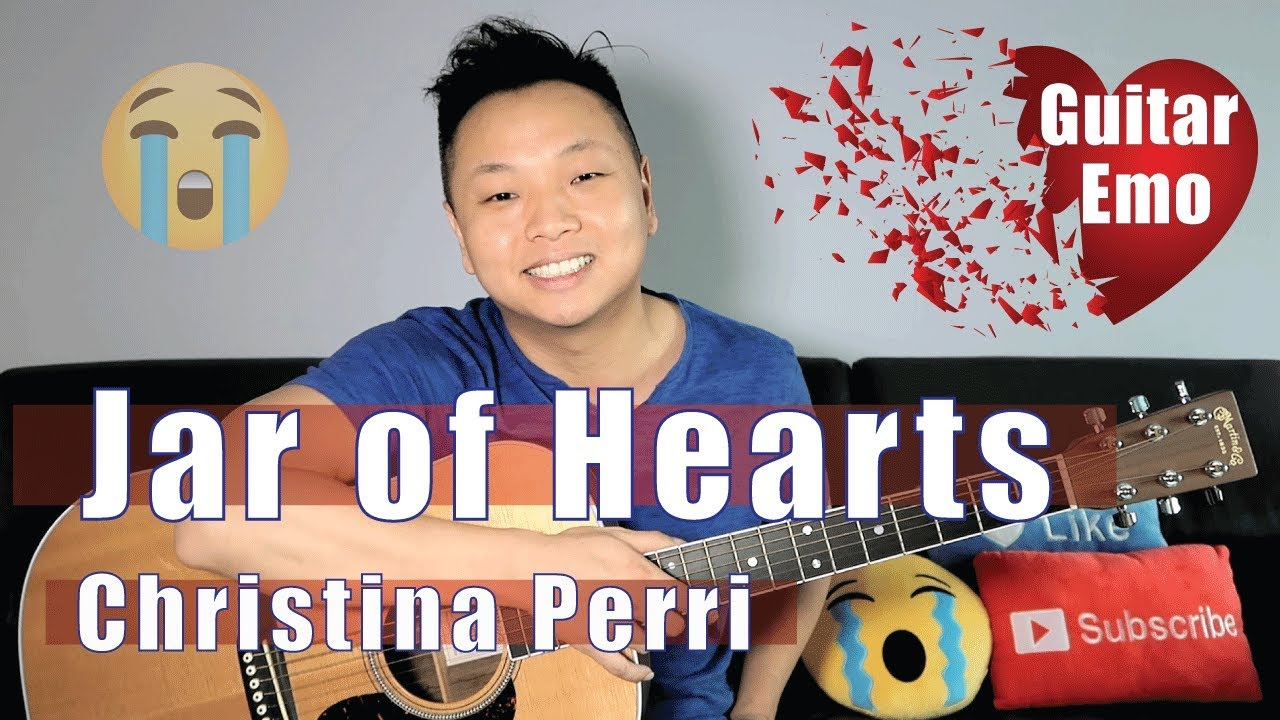 Jar Of Hearts Christina Perry Guitar Tutorial Easy Youtube