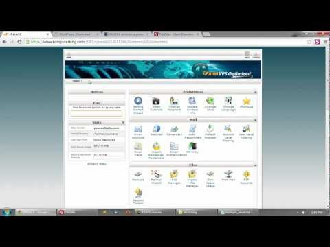 How to setup WordPress in a CPanel Hosting Environment | WordPress | CPanel