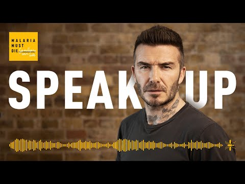 David Beckham speaks nine languages to launch Malaria Must Die Voice Petition
