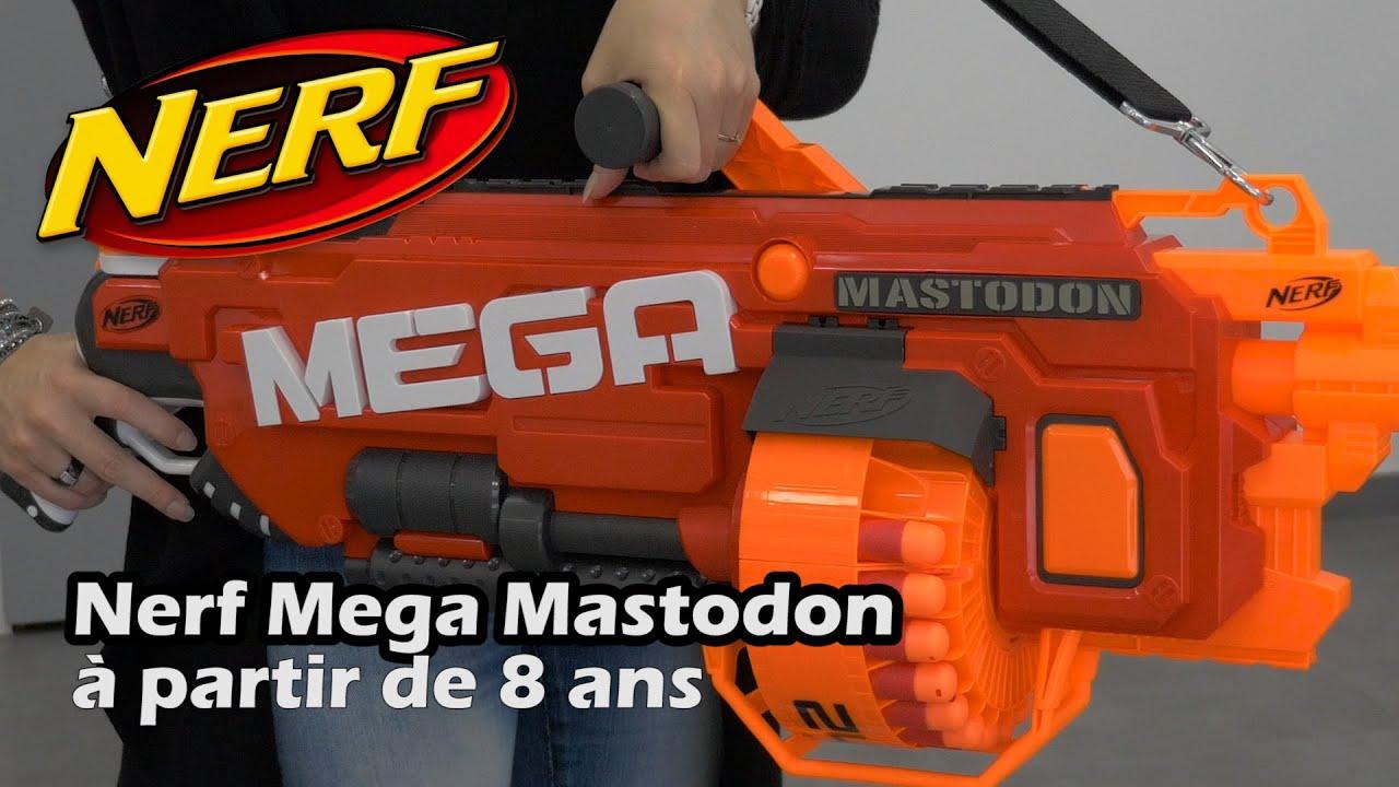 Nerf Mega Mastodon Démo Du Pistolet Jouet En Français