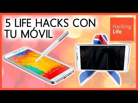 5 LIFE HACKS para el MÓVIL 📱 5 LIFE HACKS with your PHONE * Life hacks in Hacking Life