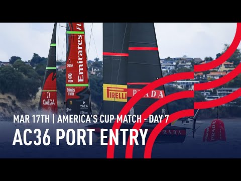 The 36thAmerica's Cup | Port Entry Stern Camera | 🔴 LIVE Day 7