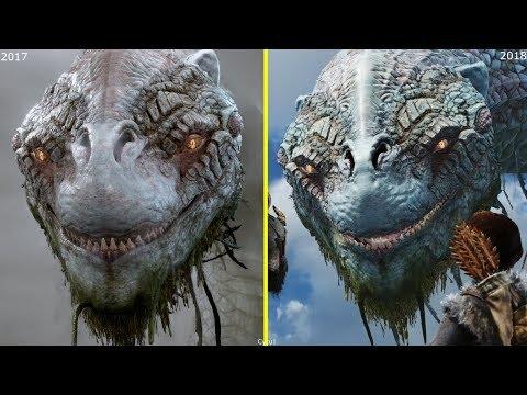 God of War 2016 vs 2017 vs 2018 Early Graphics Comparison