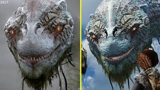 God of War 2016 vs 2017 vs 2018 Trailer Early Graphics Comparison