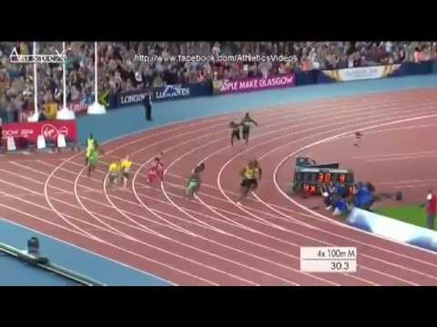Usain Bolt 4x100 men Relay - Glasgow 2014