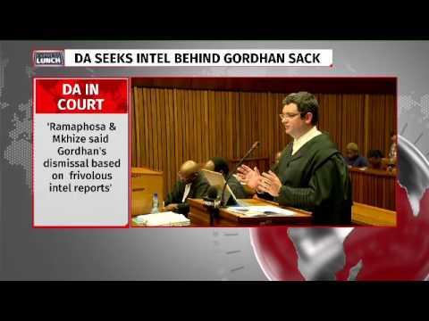 Da seeks intel behind Gordhan's sacking
