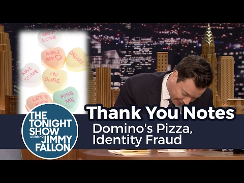 Thank You Notes: Domino's Pizza, Identity Fraud