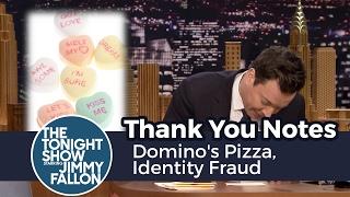 Thank You Notes: Domino's Pizza, Identity Fraud thumbnail