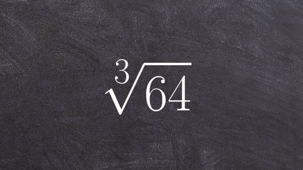 Simplifying The Cube Root Of A 64 Using The Identify Element Cube Root 64 Youtube