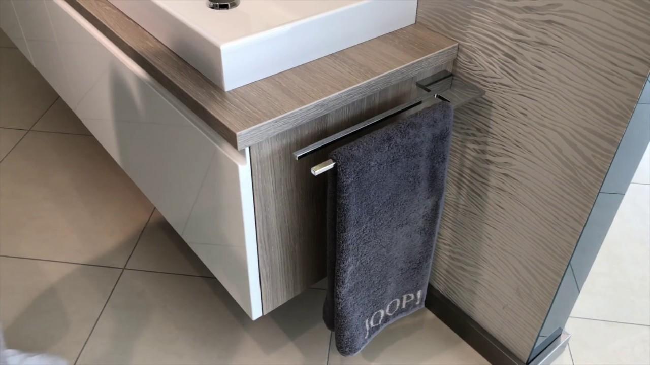 Doppel Handtuchhalter Bad Chrom Design Handtuchstange