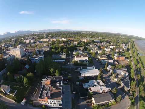 Good Morning Anchorage!  360 degree drone shot 7am 6-3-2014