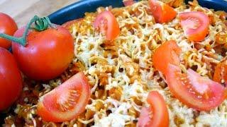 Scharfer Tomaten-Nudelauflauf