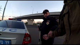 Полицейский беспредел! Силой отволокли к машине, обшмонали, задержали, отняли документы и вещи! Ч.1