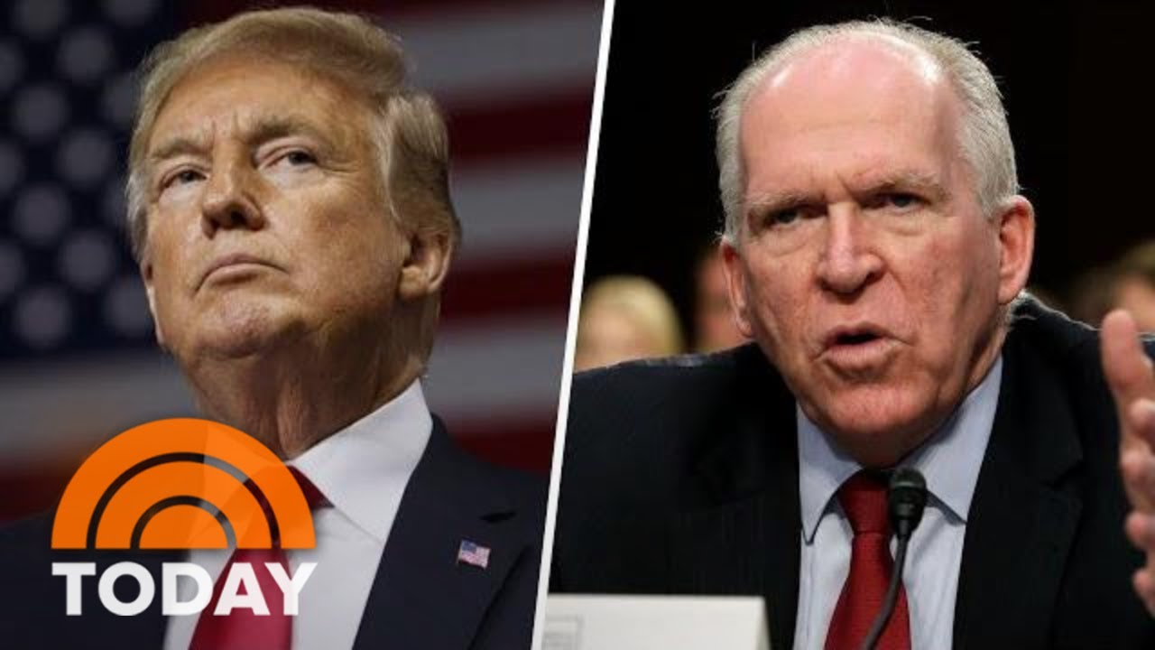 President Donald Trump Revokes Former CIA Director John Brennan's Security Clearance | TODAY