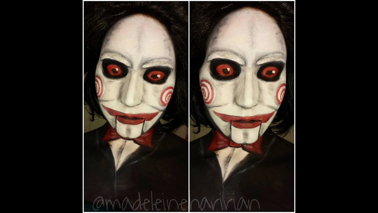 billy the puppet saw tutorial halloween face paint - youtube