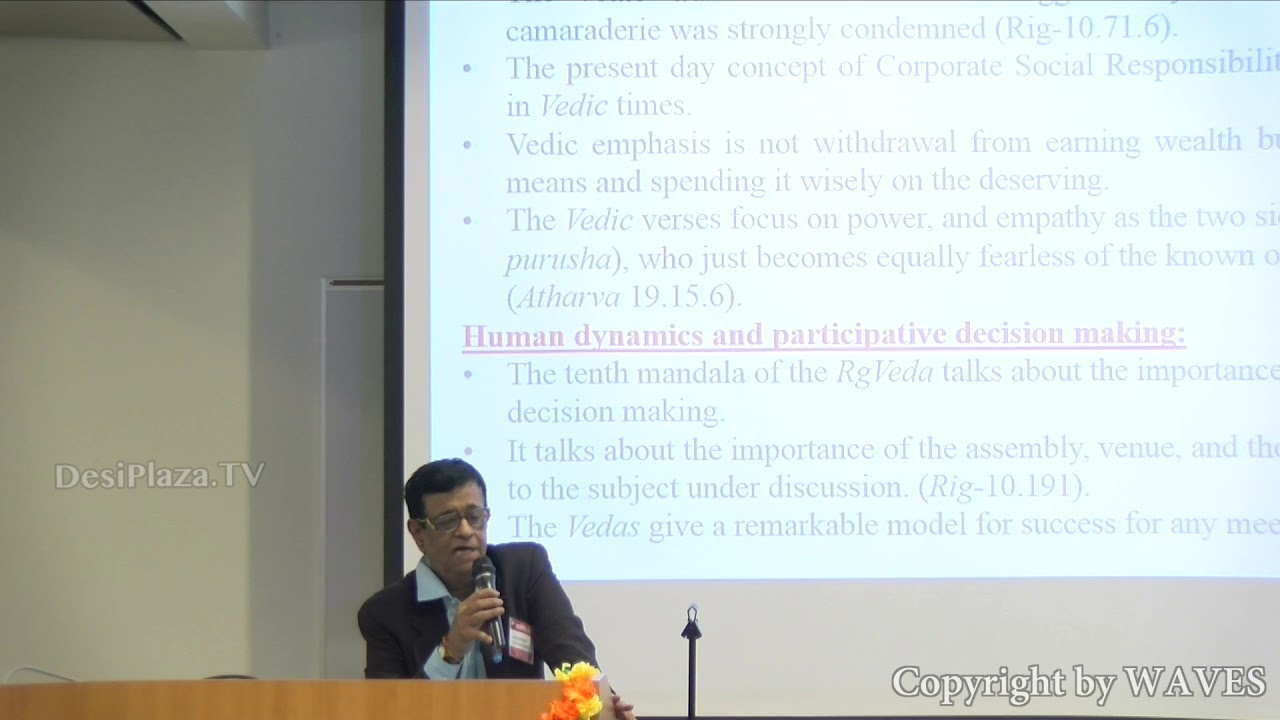 Dr. S. Rammohan's talk 'Improving Governance in the light of ancient Indian Texts' at WAVES 2018