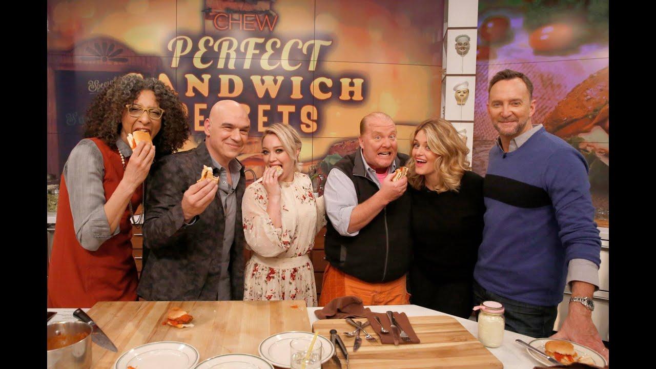 The Chew hilary duff on the chew - perfect sandwich secrets - youtube