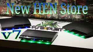 New HEN Store v7 PS3 HFW 4.84.2 Free Games/Gta5 Mods And More (2019)