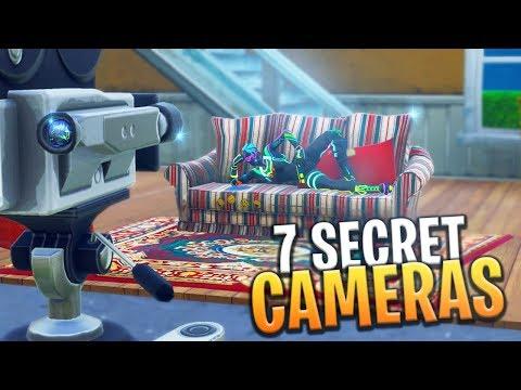 ALL 7 SECRET FILM CAMERA LOCATIONS! (Week 2 Battle Pass Challenge) - Fortnite: Battle Royale