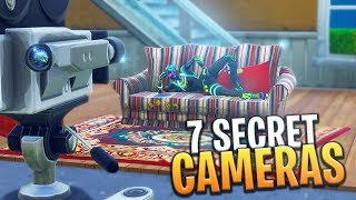 ALL 7 SECRET FILM CAMERA LOCATIONS! (Week 2 Battle Pass Challenge) - Fortnite: Battle Royale
