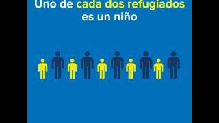 Uno de cada dos refugiados es un niño