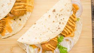 Falafel Recipe | Indian Style Falafel Wraps | Healthy Veg Cutlet Rolls | Kids Lunch Box Recipes