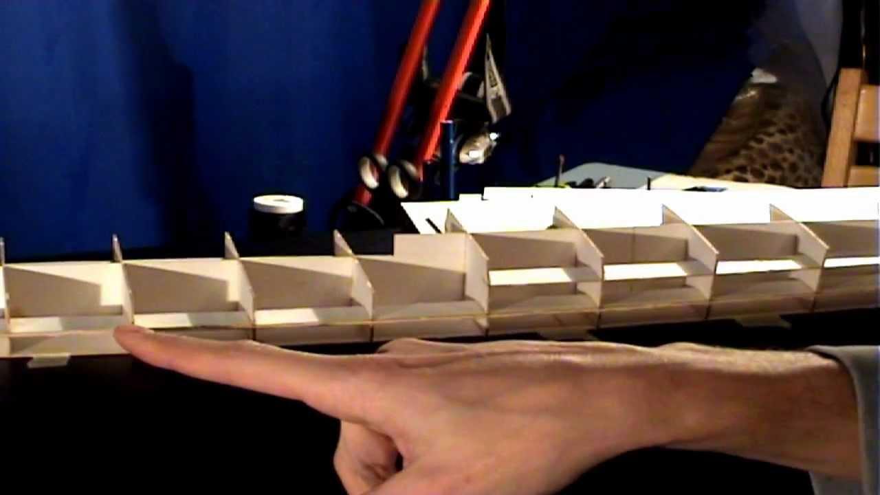 Papercraft Videorelacja z budowy krążownika ZARA 1:200 ep08. Paper model of the cruiser ZARA tutorial