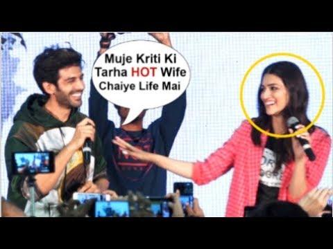 Kartik Aaryan's NAUGHTY Comment On Kriti Sanon At Luka Chuppi TMovie Promotions