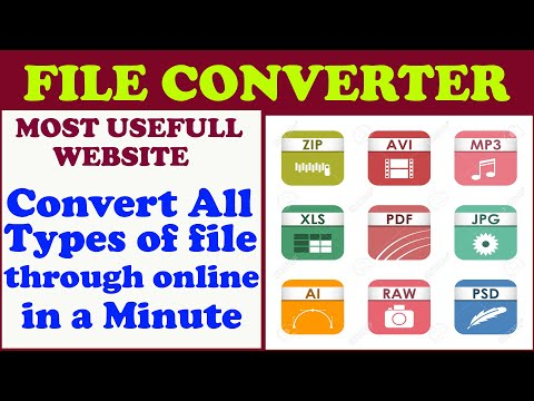 All File To Any File Converter In Few Minutes Through Online On Computer & Mobile L Hindi