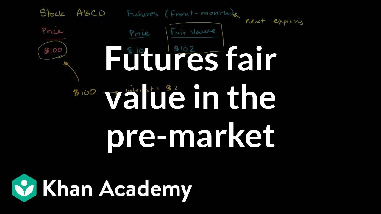 Futures fair value in the pre-market (video) | Khan Academy