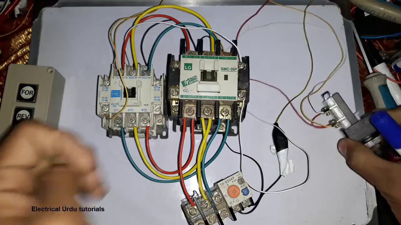 Wiring Diagram Control Circuit For Forward And Reverse Motor Youtube