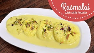 Rasmalai Recipe in Hindi - Perfect Rasmalai Recipe with Milk Powder without Egg at Home - Lata Jain