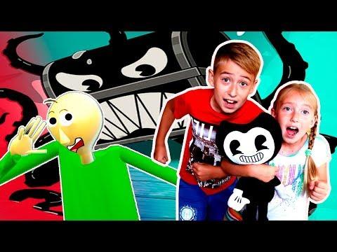 БЕНДИ против БАЛДИ анимация Побег Бенди и Алиса Момо котик детский летсплей Мы играем Bendy RUN
