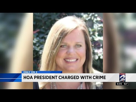HOA president charged with crime - YouTube