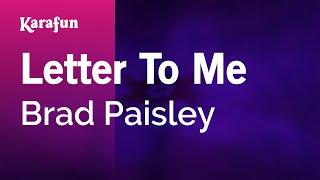 Karaoke Letter To Me - Brad Paisley *
