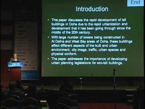 "CTBUH 2011 Seoul Conference - Yasser Mahgoub, ""Towards Eco-Tall Buildings in Doha"""