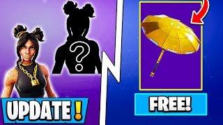 *NEW* Fortnite Update! | Free Gold Umbrella, Secret Upgrade Tier 100 Skin, Lawsuit!