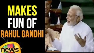 PM Modi Makes Fun Of Rahul Gandhi | Parliament Monsoon Sessions | Mango News